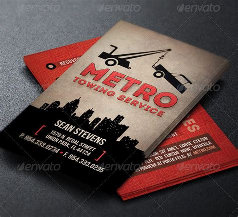 Towing Business Cards Templates by 25 Cool Psd Retro Vintage Business Card Templates