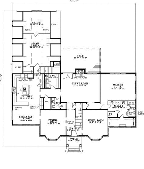 Houseplans And More Clyde Park Luxury Georgian Home Plan 055s 0034 House Plans And More