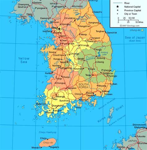 south korea city map korea map seoul korean maps subway cities provinces