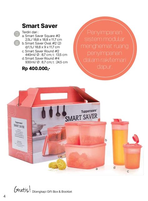 Tupperware Smart Saver 930ml Dan 440ml 2pcs katalog promo tupperware agustus 2017 jozzbuy