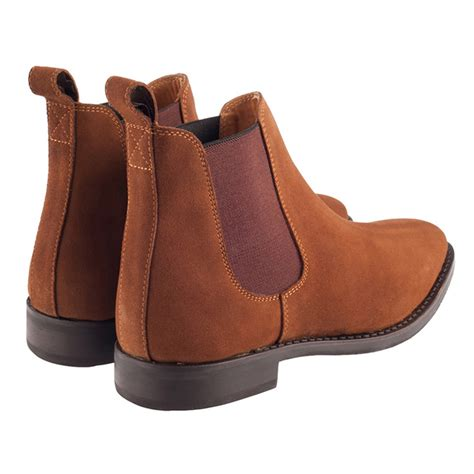 white cheshire suede chelsea boots cognac uk