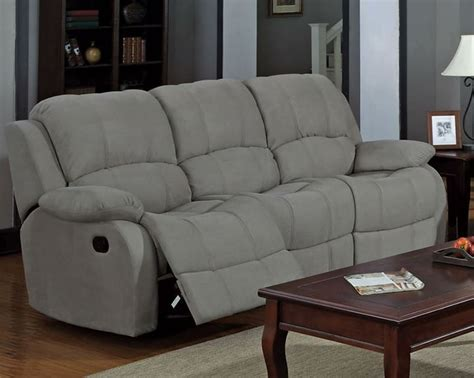 Grey Recliner Sofa by Grey Microfiber Reclining Sofa House