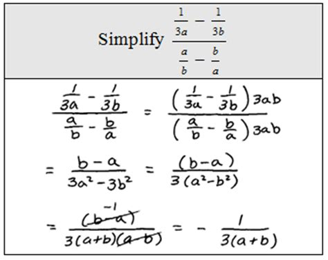 Complex Fractions Worksheets by Simplifying Complex Fractions Worksheet