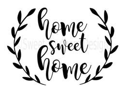 Chevron Wall Sticker home sweet home svg instant download design for cricut or