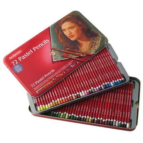5 Brust Set Kemasan Kaleng Isi 12 derwent pastel pencils