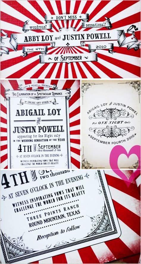 circus wedding invitations circus wedding invitation vintagecircus circuswedding