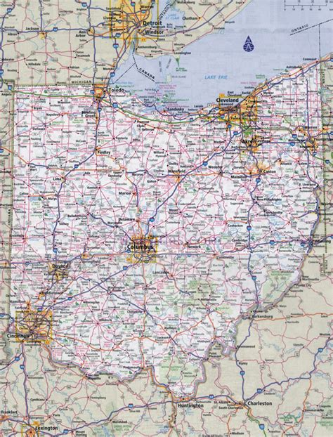 printable ohio road map large detailed roads and highways map of ohio state with