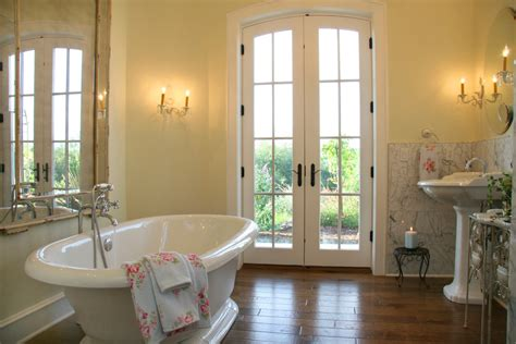 french bathtubs french door styles bathroom traditional with arched doorway bathtub crown