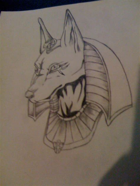 anubis pencil drawing  deathwoof  deviantart