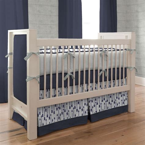 arrow bedding windsor navy flying arrow 3 piece crib bedding set carousel designs