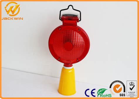 solar powered red traffic safety equipment led flashing