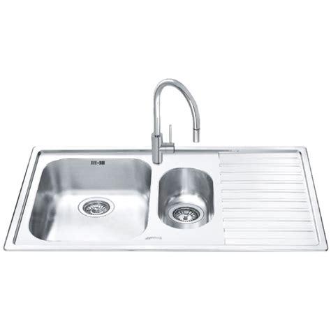 smeg kitchen sinks smeg ll102d 2 kitchen sink 1 5 bowl brushed stainless