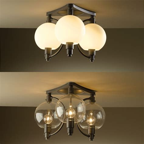 hubbardton forge 128703 pluto 16 4 quot wide ceiling light