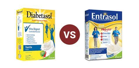 Entrasol Gold diabetasol versus entrasol gold nutrisi untuk lansia aurodigo