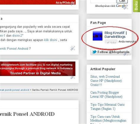 facebook fan page plugin cara pasang widget facebook like fan page di blogger