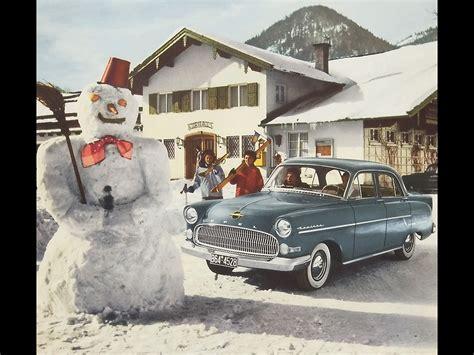 opel winter opel period photos of winter 1955 1958 opel kapitan