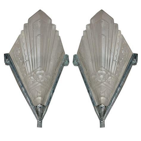 Deco Sconces Pair Of Deco Geometric Sconces C 1925 Modernism