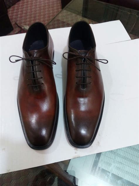 Mens Handmade Leather Shoes - handmade brown formal shoes dress shoes