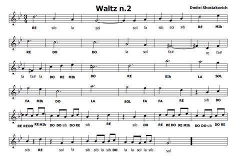 walzer delle candele musica e spartiti gratis per flauto dolce waltz n 2 di