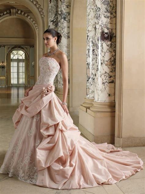 Brautkleid Farbig by Rosa Brautkleid F 252 R Einen 246 Sen Hochzeits Look
