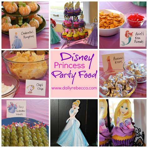 party themes with food disney princess themed party snacks for a toddler birthday