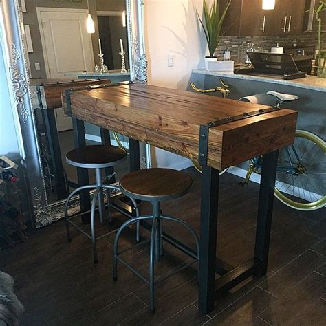 industrial style bar height table patio bar outdoor