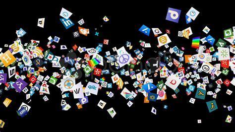 Social Network Icon Confetti Explosion   VIII (  ALPHA