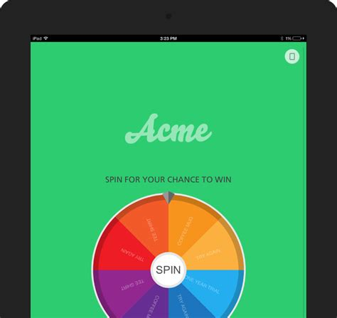 Free Sweepstakes Leads - spin 2 win sweepstakes lead capture tool for ipad