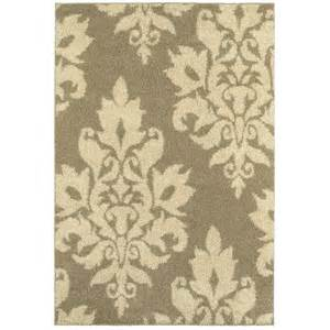 kitchen rugs 6ft home decorators collection meadow damask ivory 4 ft x 6