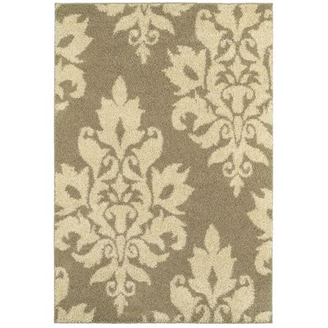 damask bathroom rug home decorators collection meadow damask ivory 4 ft x 6