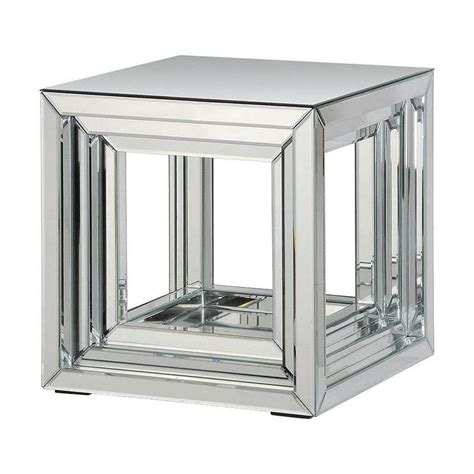 mirror accent tables side table silver mirror accent table