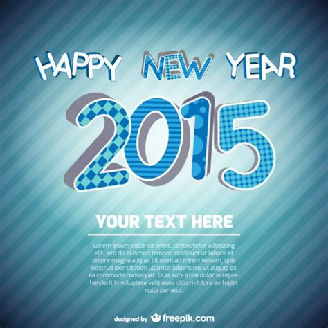 free happy new year card template new year card template vector free