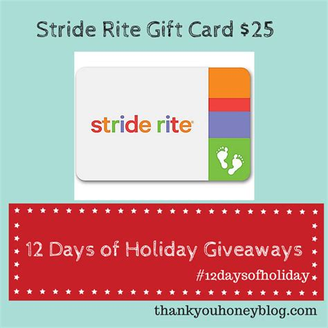 Stride Rite Gift Cards - stride rite gift card giveaway thank you honey