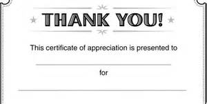 free thank you certificate templates best photos of printable thank you certificate templates