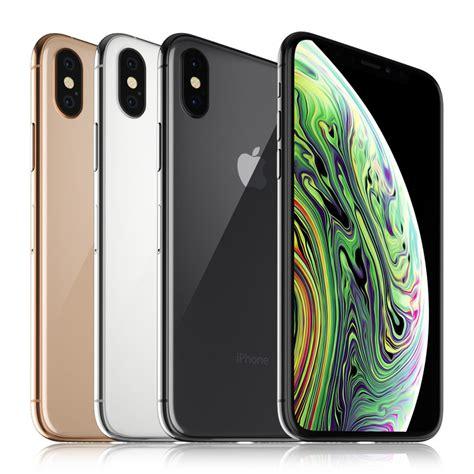 3d apple iphone xs colors turbosquid 1335134