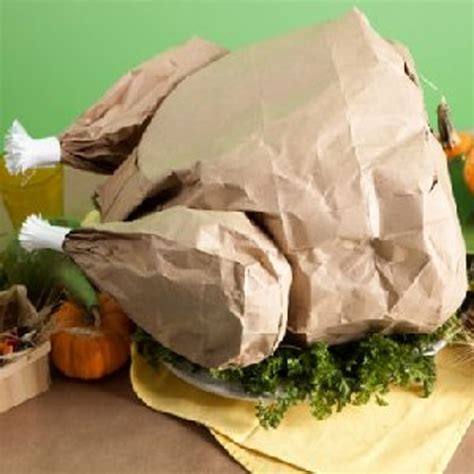 How To Make A Paper Turkey - paper bag turkey with popcorn favecrafts