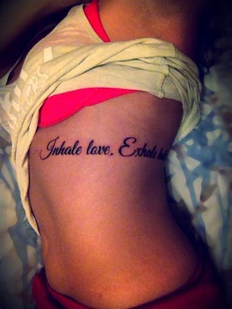 tattoo inhale love exhale hate inhale love exhale hate first tattoo i got it today