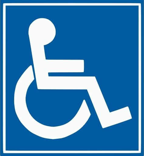 handicap parking sign template handicap free vector 9 free vector for