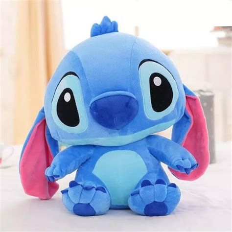 Boneka Stitch 38cm one lovely anime stitch with big ear plush toys soft pp cotton stuffed
