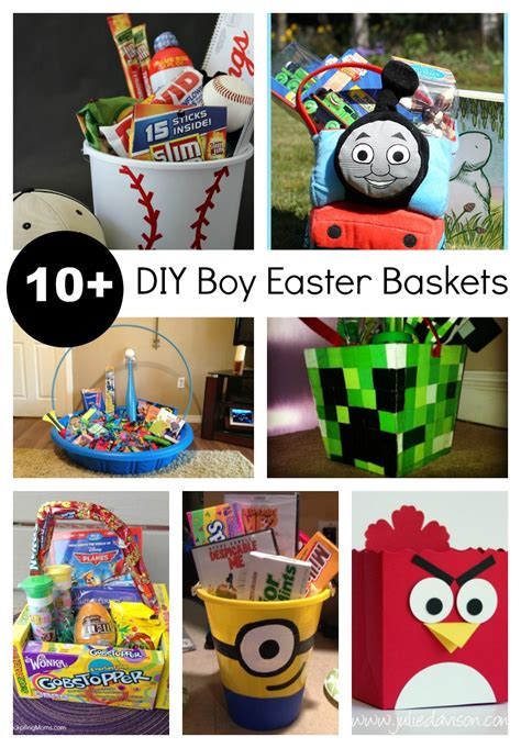 10 diy easter baskets for boys and that like