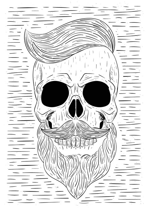 Skull Beard Free Vector Art - (94 Free Downloads)
