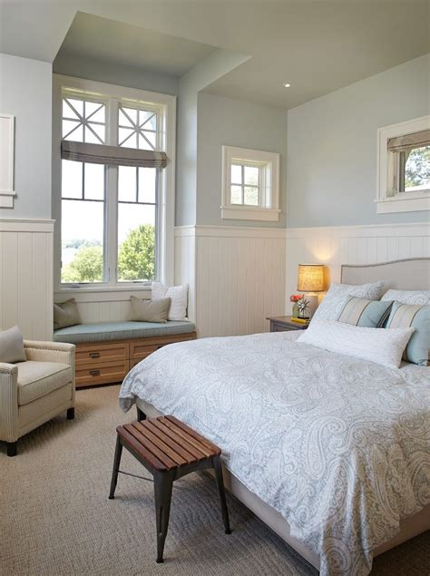 Sea Salt Sherwin Williams Bedroom by Sherwin Williams Sea Salt Paint Bedroom Traditional With Tufted Ottoman Transitional Ceiling Fans