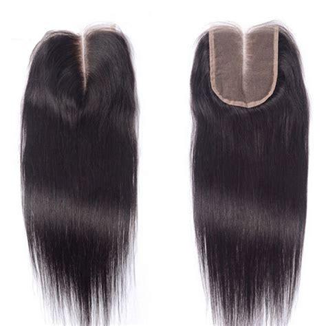 human hair lace closure top brazilian straight closure 4 quot x4 quot 130 density hand