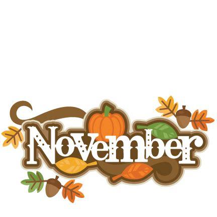 november images november title svg scrapbook cut file clipart files