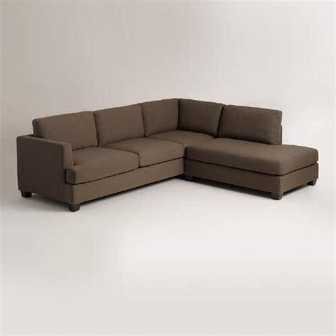 world market sectional cocoa brown joran sectional sofa world market