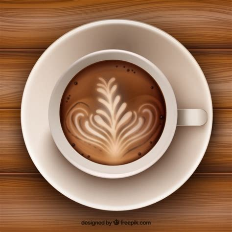 what to put on top of a coffee table decoration on coffee surface vector premium