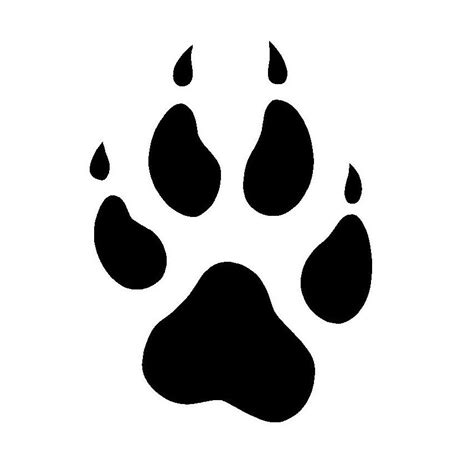 Pawprint Image Cliparts Co Paw Print Silhouette
