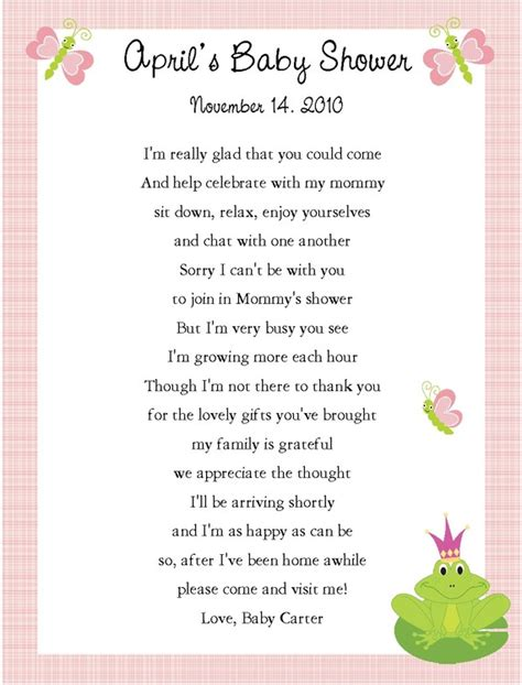 Baby Shower Thank You Poems by Baby Shower Thank You Poems For Guests Car Interior Design