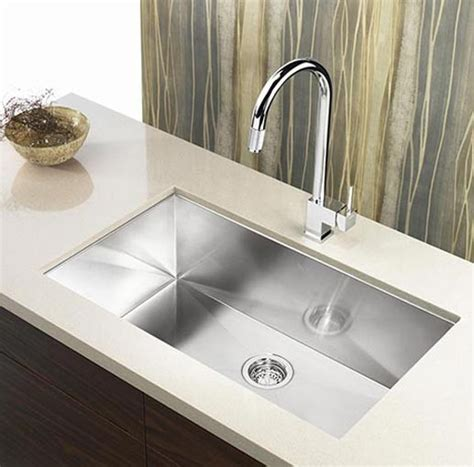 Undermount Sinks Kitchen 36 Inch Stainless Steel Undermount Single Bowl Kitchen Sink Zero Radius Design