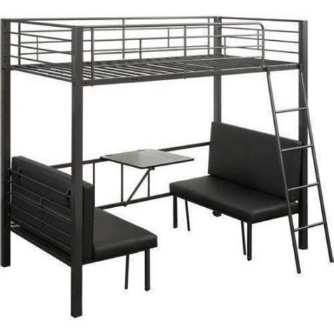 hakem loft bed in gun metal walmart com